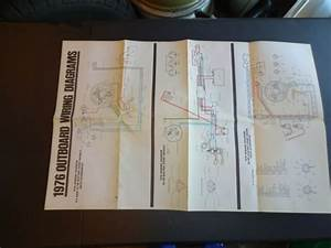 1976 Johnson Evinrude Outboard Motor Wiring Diagram Poster