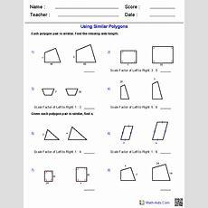 Geometry Worksheets  Similarity Worksheets