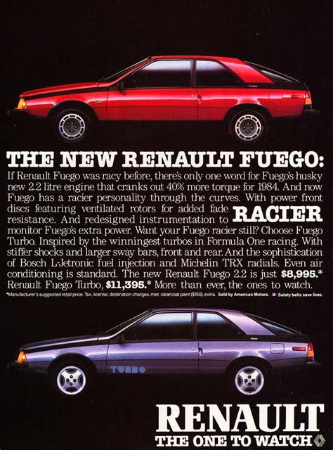 1984 renault fuego 1984 renault fuego ad classic cars today online