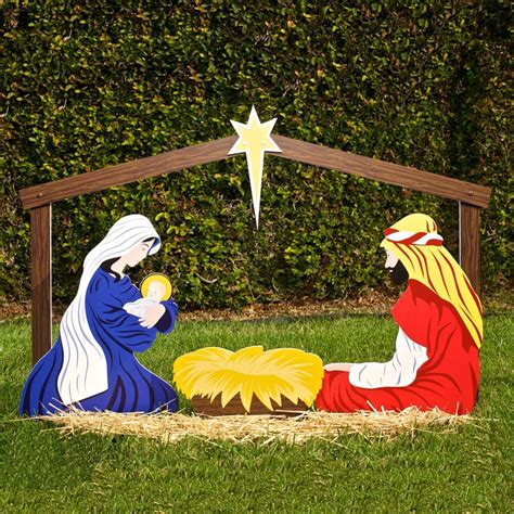 exciting image of nativity outdoor christmas decoration