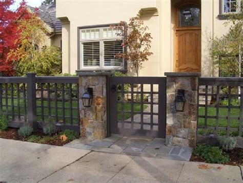 front yard fencing options the best yet inexpensive front yard fence ideas fresh front yard wood fence with stone columns