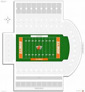 Illini Stadium Seat Chart Memorial Stadium Il Illinois Seating Guide