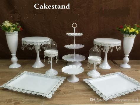 hot sale snow white crystal wedding cake stand