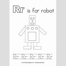 Tracing Alphabet R Is For Robot  Letters  Preschool Letters, Preschool Worksheets, Alphabet