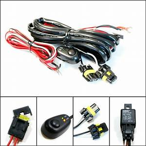 9005 9006 Relay Harness Wire Kit Led On  Off Switch For Fog