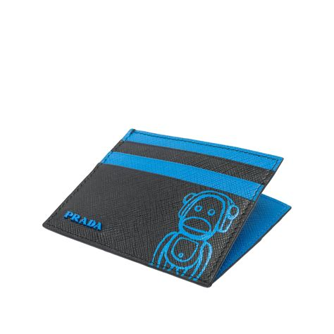 Join her revolution with our range of prada wallets and cardholders, crafted from saffiano leather and signature '90s nylon. Prada Malia Saffiano Leather Card Holder in Blue for Men - Lyst