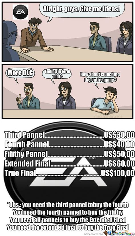 Ea Memes - yes memecenter was bought by ea games that s how all our memes are gonna be like from now on