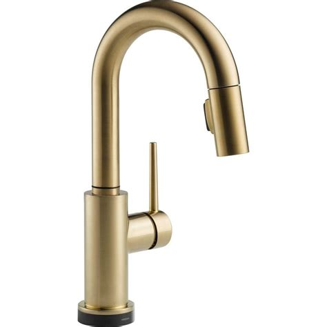 delta trinsic single handle pull sprayer bar faucet featuring touch2o technology in