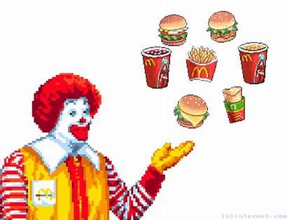 Mcdonald Ronald Mcdonalds Gifs Fast Computer