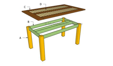 dining table construction plans wooden wooden outdoor dining table plans pdf plans