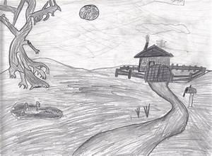 Creepy pencil landscape by Mackdady412 on DeviantArt