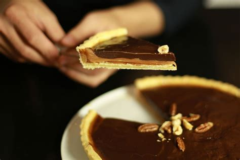 recette facile de la tarte au chocolat  caramel au