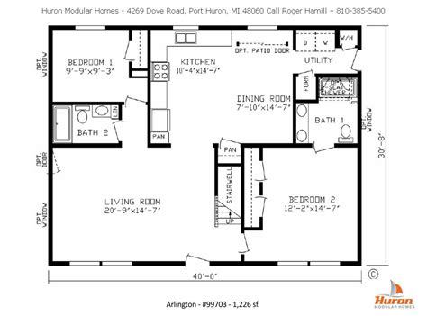 modular home floorplans huron modular homes