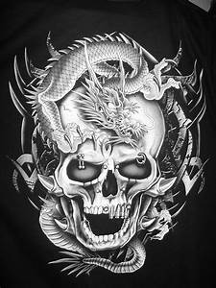 Dragon Skull - Black and White by Leggyboy on DeviantArt