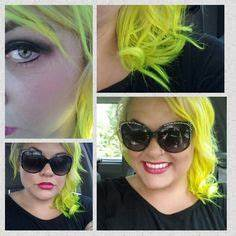 Ombre haircolor purple blue teal neon green Used