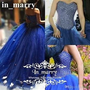 Luxury Royal Blue Ball Gown Quinceanera Dresses 2017 ...