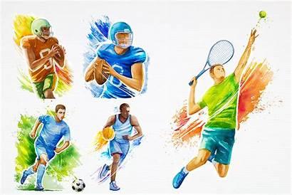 Illustrations Sports Watercolor Sport Thehungryjpeg Cart Alex