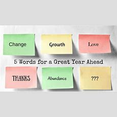 5 Words For A Great Year Ahead  Brilliant Living Hq