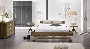 Komplettes Schlafzimmer Kaufen : bett im industrielook aus massivholz kaufen molina ~ Watch28wear.com Haus und Dekorationen
