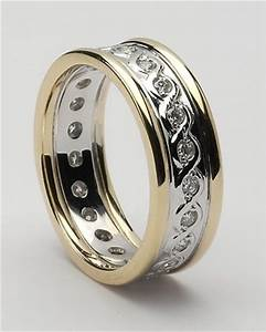 21 beautiful celtic style wedding rings navokalcom With celtic design wedding rings