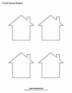 house templates free blank house shape pdfs With printable house template for kids