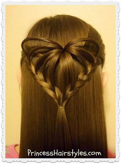 Heart Hairstyle 3d Hairstyles Valentines Valentine Princess