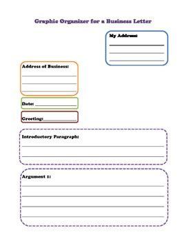 businesspersuasive letter graphic organizer  pencil