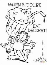 Coloring Dessert Pages Eat Printable Doubt Drawing sketch template