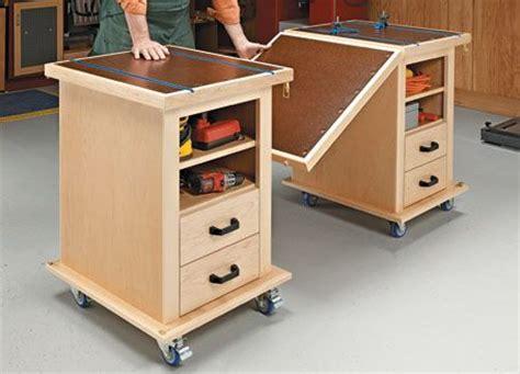 multifunction shop carts woodsmith plans