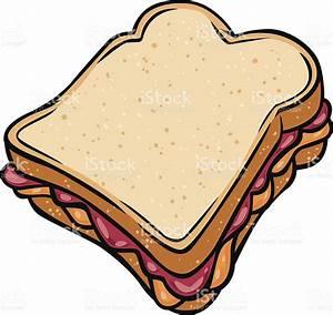 Peanut Butter Jelly Sandwich stock vector art 165943941 ...