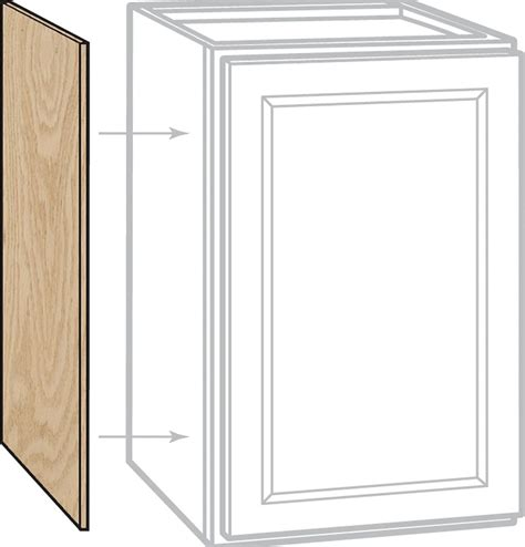 home depot canada unfinished oak cabinets unbranded unfinished oak 12x30 wall end pnl the home