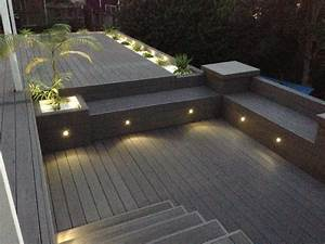 Pack of waterproof outdoor step lights low voltage
