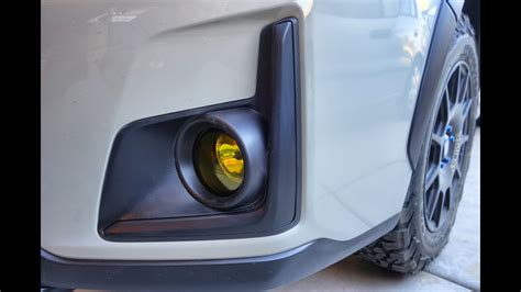 subaru crosstrek brz type yellow fog light install youtube