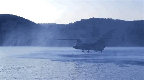 Boat Driving Into Helicopter by Special Forces Drive A Boat Into A Chinook