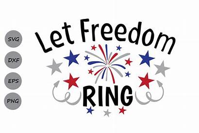 Svg Freedom July Memorial Ring Let 4th