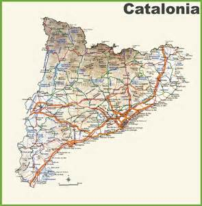 Detailed Map of Catalonia Spain