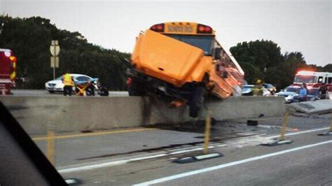 school bus accident    lbj freeway  dallas car