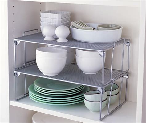 store large stacking mesh shelf