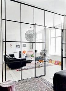 Verriere Interieure Metallique : structurer un grand salon avec une verri re int rieure ~ Premium-room.com Idées de Décoration