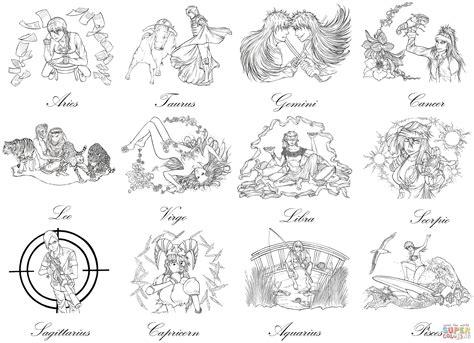 bleach zodiac signs  marvolo san coloring page
