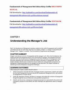 Fundamentals Of Management 8th Edition Ricky Griffin