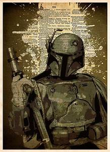 Boba Fett pop art print, Star wars pop art, splatter ink ...