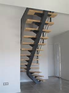 Escalier Metalique Bois by Escalier Metallique Limon Debillarde