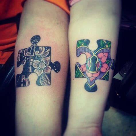 hubby   couples tattoo  puzzle pieces