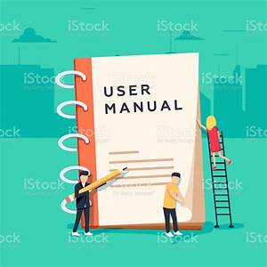 User Manual Flat Style Vector Concept People Surrounded