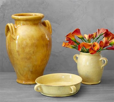 harvest rustic vase pottery barn