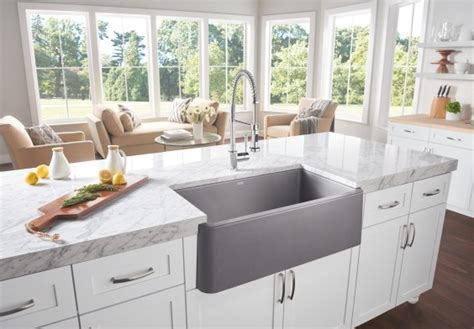 kitchen design sink blanco ikon apron front single bowl blanco 1355