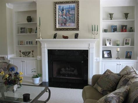 Living Room With Fireplace And Bookshelves by Fireplaces With Bookshelves On Each Side Took A Look At