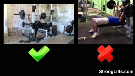 Bench Press Method by How To Bench Press With Proper Form Stronglifts 5x5