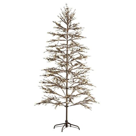 martha stewart led tree not working martha stewart living 6 5 ft pre lit led brown winterberry indoor outdoor artificial